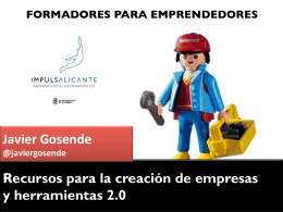 """Presentación """"Formadores para emprendedores"""" (PDF 6 Mb)"""