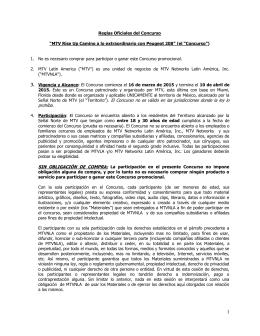 """Señal Norte de MTV (el """"Territorio""""). El Concurso no es"""