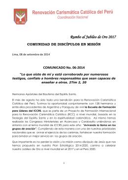 Descargar - Renovación carismática católica del Perú