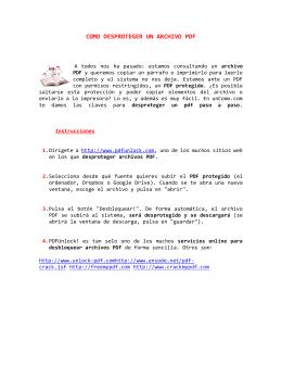 COMO DESPROTEGER UN ARCHIVO PDF