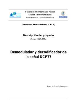 Demodulador y decodificador de la señal DCF77