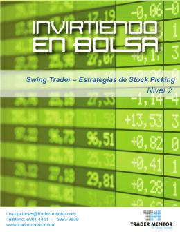 Swing Trader – Estrategias de Stock Picking Nivel 2
