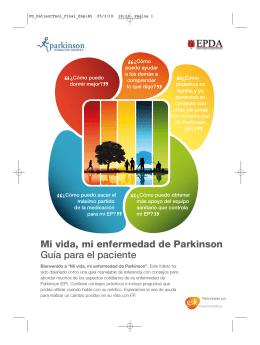 Mi vida, mi enfermedad de Parkinson Guía para el paciente