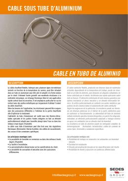 cable sous tube d`aluminium cable en tubo de aluminio