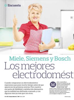 Miele, Siemens y Bosch