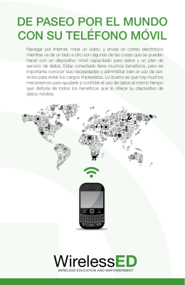 Roaming the World with Your Phone (Spanish)