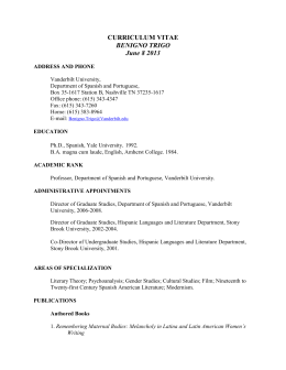 Curriculum Vitae - College of Arts and Science