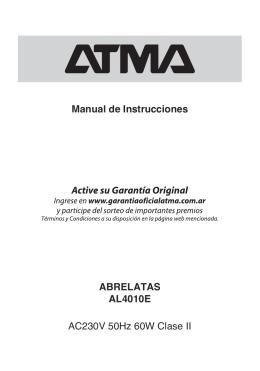 Manual AL4010E