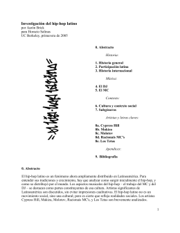 Investigación del hip-hop latino