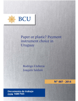 Paper or plastic? Payment instrument choice in Uruguay