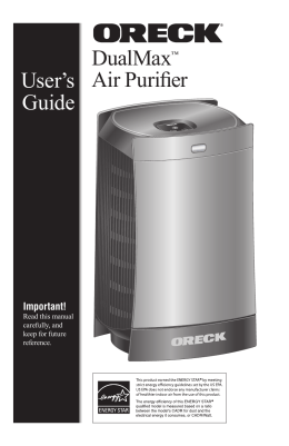 DualMax Air Purifier User`s Guide
