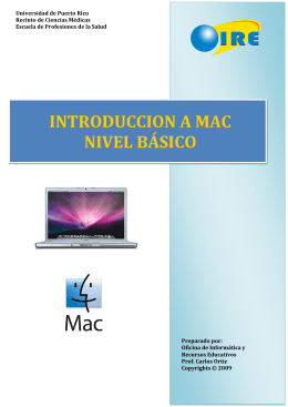 INTRODUCCION A MAC NIVEL BÁSICO