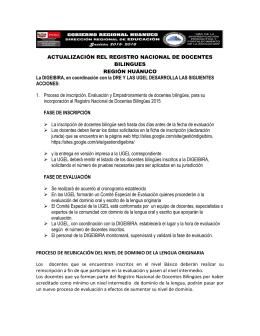 ACTUALIZACIÓN REL REGISTRO NACIONAL DE
