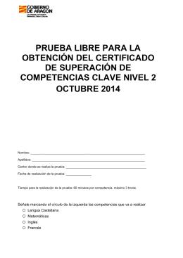 prueba libre para la obtención del certificado de superación de