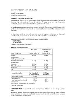 LEVADURA ANGELINI A+E CON BETA
