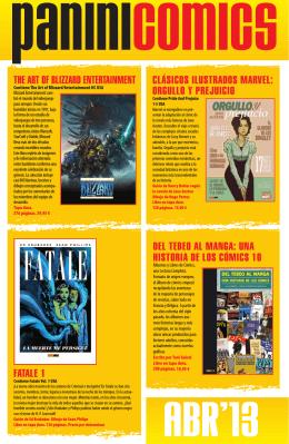 panini abril 2013 - Librería Comix Box