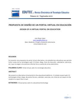 Edutec-e n33 Rejas - Comunidad Virtual Tecnología Educativa