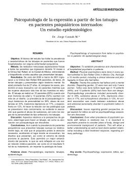 Psicopatología de la expresión a partir de los tatuajes en pacientes