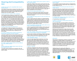 Compatibilidad con audífonos para sordos Hearing Aid Compatibility