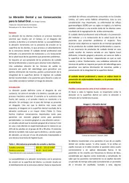 La Abrasión Dental y sus Consecuencias para la Salud Oral. Por