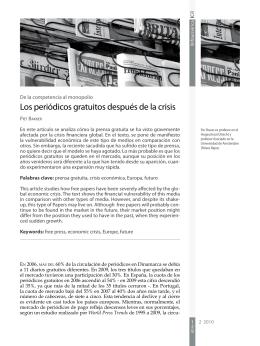 Los periódicos gratuitos después de la crisis