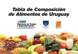 Tabla de Composición de Alimentos de Uruguay