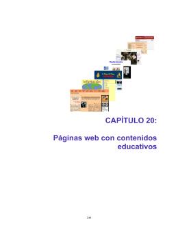CAPÍTULO 20: Páginas web con contenidos educativos