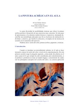 LA PINTURA ACRÍLICA EN EL AULA - Ediciones Gallardo y Bellido.