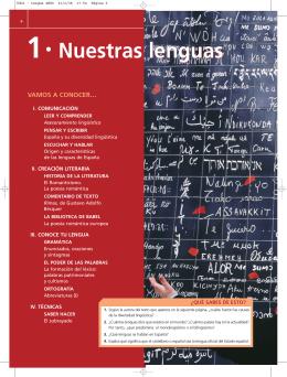 1 · Nuestras lenguas 1 · Nuestras lenguas
