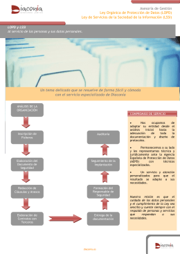 Asesoría de Gestión Ley Orgánica de Protección de