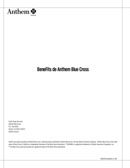 BeneFits de Anthem Blue Cross