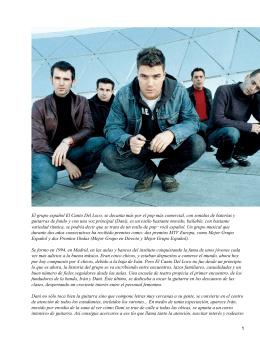 El grupo español El Canto Del Loco, se decanta más por el pop más