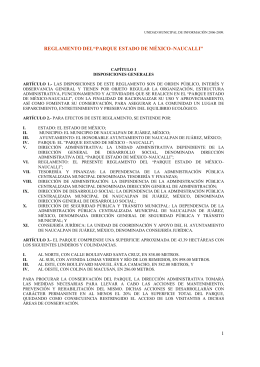 "1 REGLAMENTO DEL""PARQUE ESTADO DE MÉXICO–NAUCALLI"""