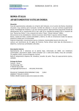 ROMA-ITALIA APARTAMENTOS VATICAN DORIA