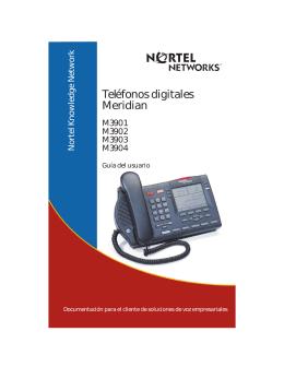 Nortel M3903 Guía de Referencia Rápida
