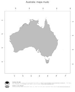 Australia: mapa mudo