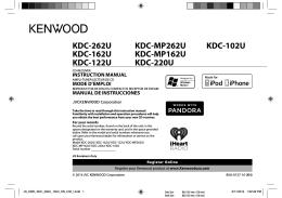 KDC-262U KDC-162U KDC-122U KDC-MP262U KDC