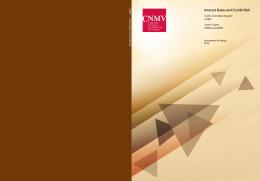 Interest Rates and Credit Risk - Comisión Nacional del Mercado de