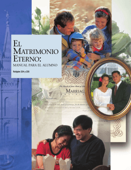 El matrimonio eterno, Manual para el alumno