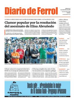 Clamor popular por la resolución del asesinato de Elisa Abruñedo