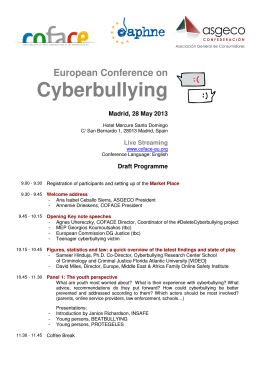European Conference on Cyberbullying