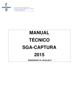 MANUAL TÉCNICO SGA-CAPTURA 2015