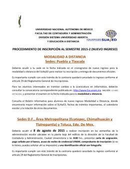 Procedimiento de inscripción - FCA