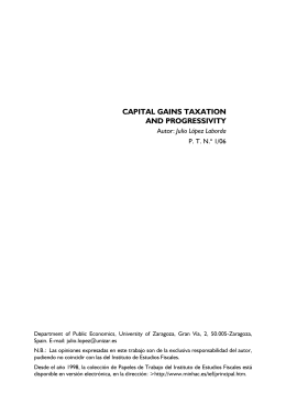 CAPITAL GAINS TAXATION AND PROGRESSIVITY