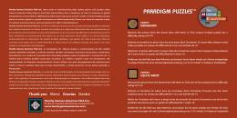 paradigm puzzles™ paradigm puzzles