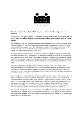 El Festival Jardins del Palau Reial de Pedralbes, la nueva cita