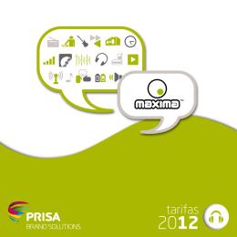 Descargar tarifas - PRISA Brand Solutions