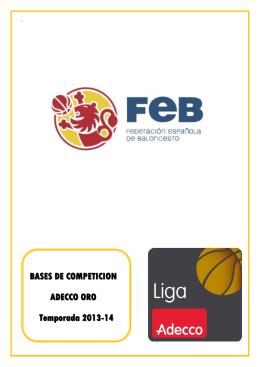 adecco oro 13/14 - Federación Española de Baloncesto