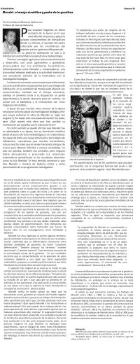 Mendel, el monje científico y padre de la genética