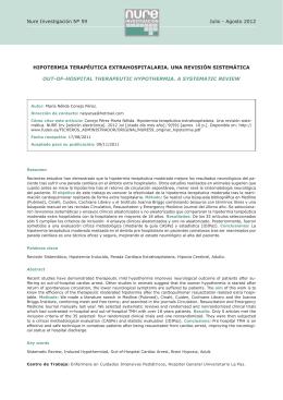 Hipotermia terapéutica extrahospitalaria. Una revisión sistemática
